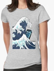 Space And Time traveller Box Vs The great wave T-Shirt