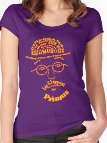 Les Claypool Typography Women's Fitted Scoop T-Shirt