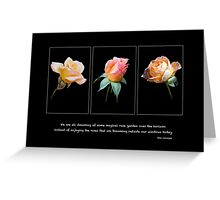Blooming Outside Greeting Card