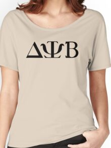 Delta Psi Beta black Women's Relaxed Fit T-Shirt