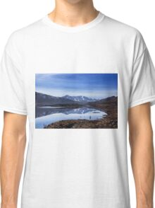 December Snow and Freezing Cold at Cluanie Dam Classic T-Shirt