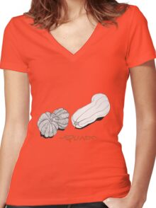 Squash Women's Fitted V-Neck T-Shirt