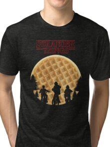 stranger things waffle Tri-blend T-Shirt