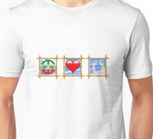 Peace Love Sandy Feet Unisex T-Shirt
