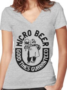 #beer Women's Fitted V-Neck T-Shirt