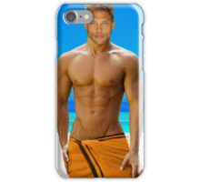 Sexy guy by the pool iPhone Case/Skin