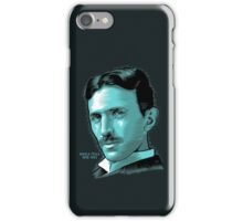 Nikola Tesla Portrait Science Electrical iPhone Case/Skin