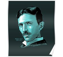 Nikola Tesla Portrait Science Electrical Poster