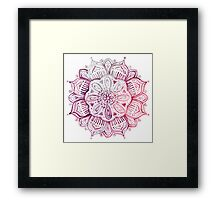 Burgundy Blush Watercolor Mandala Framed Print