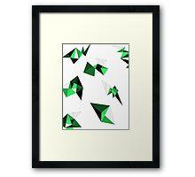 Green Geometric Framed Print