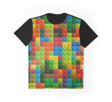 3D seamless pattern of plastic lego parts Graphic T-Shirt