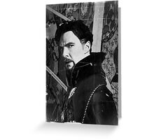Doctor Strange ShSpesh Comic (b+w) 2 Greeting Card