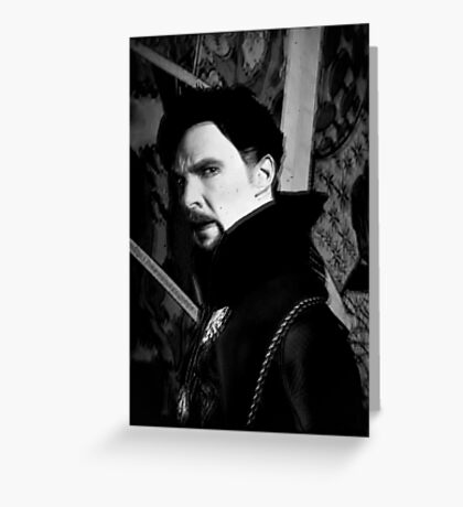 Doctor Strange ShSpesh Comic (b+w) 3 Greeting Card