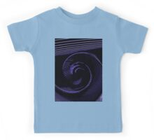 Purple spiral, abstraction, visual, optical illusion Kids Tee