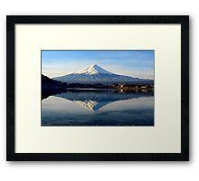 Mount Fuji mirror image Framed Print