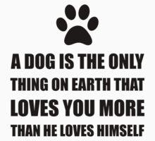 Dog Love You More Baby Tee