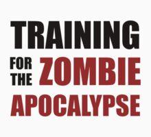 Training For The Zombie Apocalypse Kids Tee