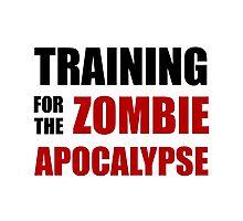 Training For The Zombie Apocalypse Photographic Print