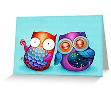 Night Owl Morning Owl Greeting Card