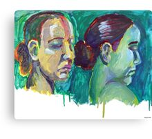 Head Study 8 and 9 Canvas Print