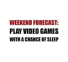 Play Video Games Sleep Photographic Print