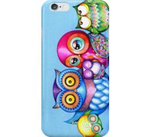 Funny Owl Family Portrait iPhone Case/Skin