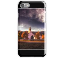 Dusk on the Rumney Common Poster iPhone Case/Skin