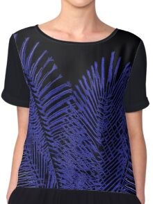 Blue asymetric lines, abstraction, visual, optical illusion Chiffon Top
