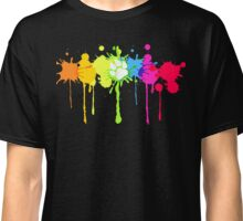 Puppy Pride Splash Rainbow Classic T-Shirt