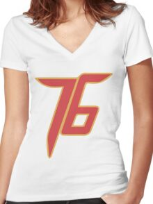SOLDIER • 76 Women's Fitted V-Neck T-Shirt