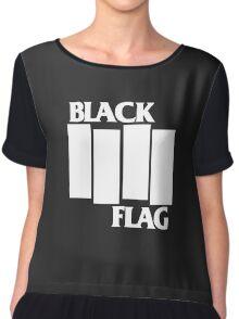 Black Flag Band Chiffon Top