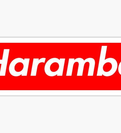 Harambe Supreme Box Logo Best Sticker