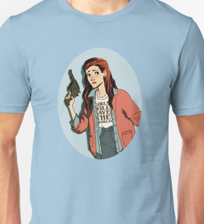 Stranger Things: Nancy - Girls will Save the World Unisex T-Shirt