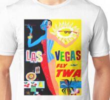 """TWA AIRLINES"" Fly to Las Vegas Advertising Print Unisex T-Shirt"