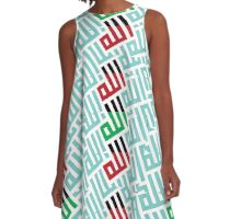ARABIC CALLIGRAFFITI_7 A-Line Dress