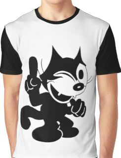 Felix the Cat Winking at.. Graphic T-Shirt