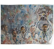 Andy Murray and his team- Davis Cup Winners Poster
