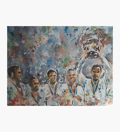 Andy Murray and his team- Davis Cup Winners Photographic Print