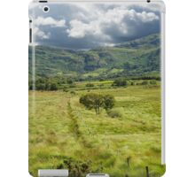 fence leading to trees and rocky mountains  iPad Case/Skin