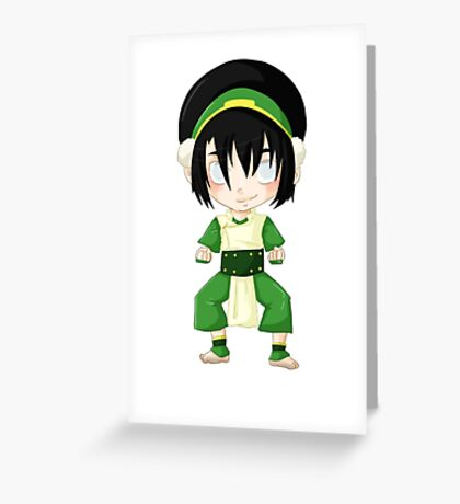 Toph Beifong, earth bender Greeting Card