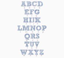 Alphabet Pink & Blue  Kids Tee