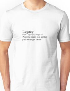 Legacy definition - inspired by Hamilton Unisex T-Shirt