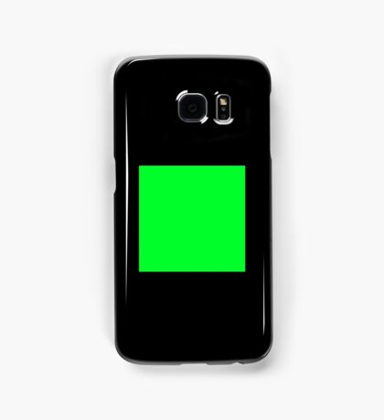 GREEN SQUARE, Green, Eco, Ecology, Ecological, Nature, Natural, on BLACK Samsung Galaxy Case/Skin