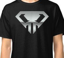 Superman logo style skull Chrome alternate version Classic T-Shirt