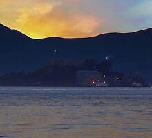 Alcatraz at Sunset by David Denny
