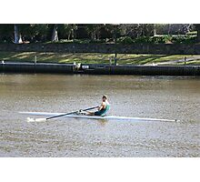 Sculling on the Yarra River Photographic Print