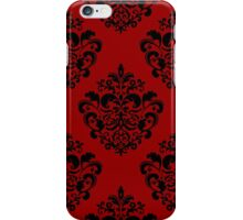 Black Damask Pattern iPhone Case/Skin