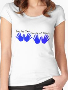Two by Two, Hands of Blue. Women's Fitted Scoop T-Shirt