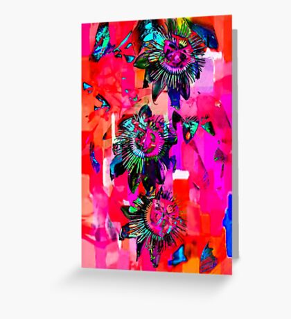 Psychedelic Floral  Greeting Card