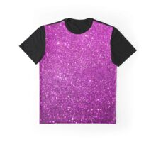Purple Glitter Shiny Sparkley Graphic T-Shirt